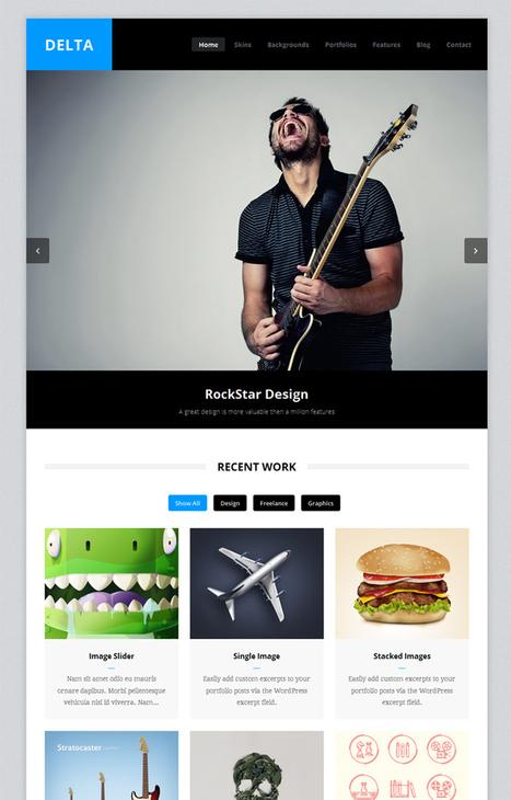 Delta, WordPress Premium Photography Theme   WP Download   salve   Scoop.it