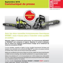 C - Nouvelles tronçonneuses thermiques chez Ryobi   Bricolage   Scoop.it