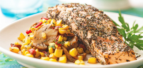 Herb-Crusted Salmon with Corn a superfood! | Nutrient Dense foods | Scoop.it