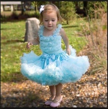Exclusive Designer Sky Blue Party Wear Tutu Skirt for Kids in India | Online Baby Accessories | Scoop.it
