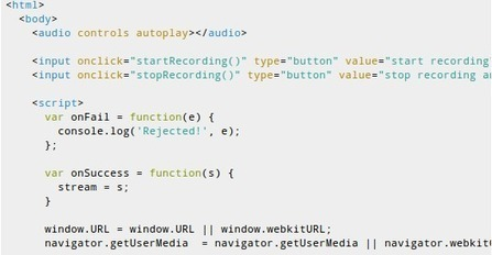 Recording audio with Chrome using HTML5 | HTML5 and CSS3 | Scoop.it