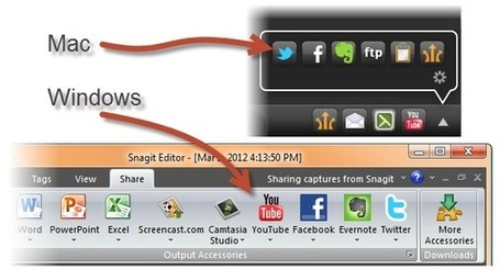 Share Snagit Screen Capture Images On Facebook, Twitter,Skype, YouTube | Education Technology - theory & practice | Scoop.it