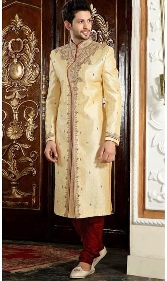 Splendorous Cream and Red Readymade Men's Wear. | fashionheena.com | Scoop.it