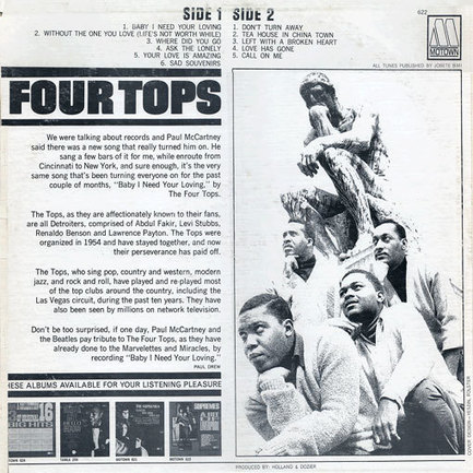 The Four Tops Page | Reeling in the Years | Scoop.it