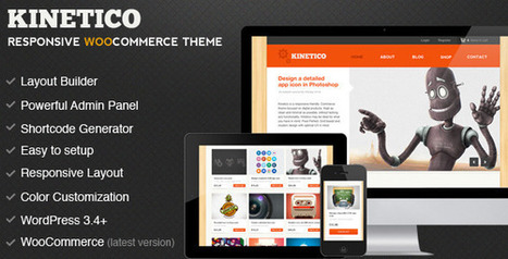 Kinetico Responsive WordPress E-Commerce v5.0 | Download Free Full Scripts | responsive sites | Scoop.it