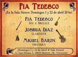 PÍA TEDESCO, Madrid, Domingos 1 y 22 de abril (swing combo) Sala Siroco | MARATÓN DE CITAS | Scoop.it