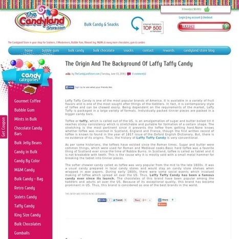The Origin And The Background Of Laffy Taffy Candy | The Candyland Store | Scoop.it