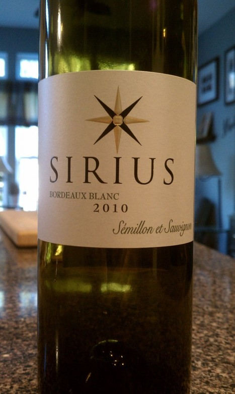 2010 Sirius Bordeaux Blanc   French Wines   White Wine Reviews   The Good Wine Guru   Bordeaux wines for everyone   Scoop.it