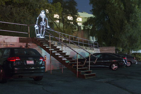 Spot Check, Animated Light Painting of a Skateboarding Skeleton | Procrastination Daily | Scoop.it