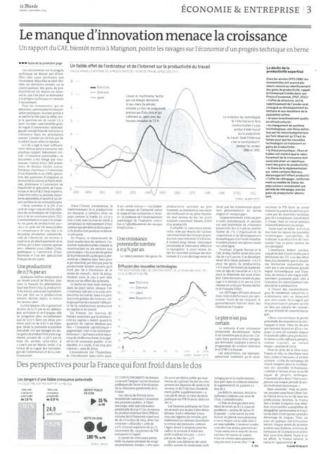 Le manque d'innovation Menace la croissance | Innovation Management with TRIZ | Scoop.it