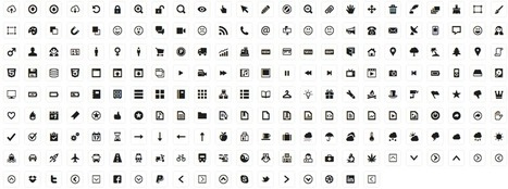Free 210 Vector Icons for Web Design and Wireframing - Creative Commons License - Minicons | web tools | Scoop.it