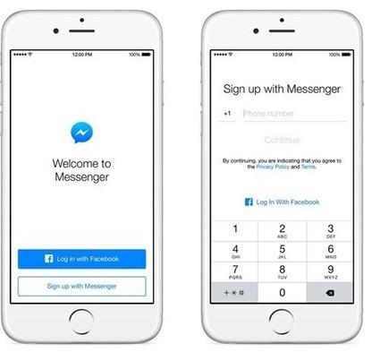 Messenger est maintenant accessible sans compte Facebook dans tous les pays - #Arobasenet.com   Applications Iphone, Ipad, Android et avec un zeste de news   Scoop.it