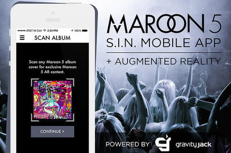Maroon 5 Announces Official Mobile App Featuring Augmented Reality by Gravity Jack   Tech: Augmented Reality   Scoop.it