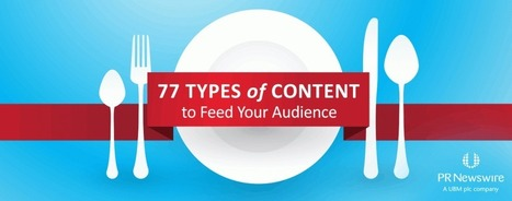 77 Types of Content to Feed Your Audience | PR Newswire | How to find and tell your story | Scoop.it