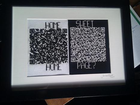 Home Sweet Home Page ! QR code au point de croix   QRdressCode   Scoop.it