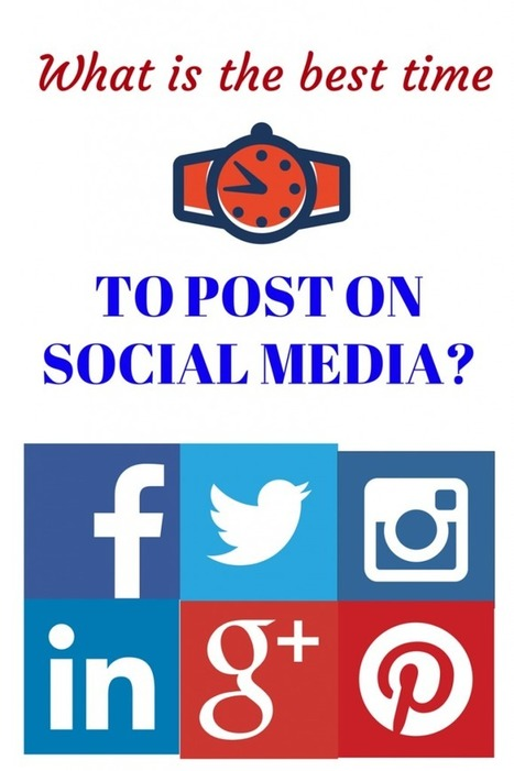 What Is The Best Time Of Day To Post On Facebook, Twitter, Linkedin, Pinterest, Instagram And Google Plus? | Social Media in Manufacturing Today | Scoop.it