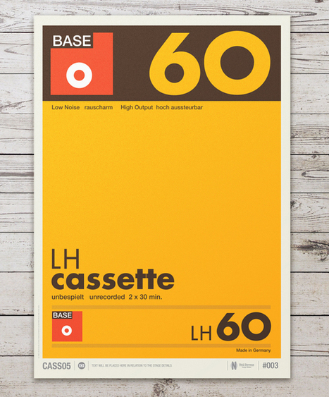 Retro Graphic Design Of Cassette Labels Turned Into Gorgeous Typographic Posters   What's new in Visual Communication?   Scoop.it