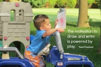 The motivation to draw and write is powered by play   Teach Preschool   Scoop.it