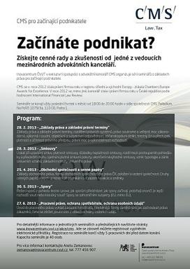 SEMINÁŘE: Základy práva pro začínající firmy - Inovacentrum ČVUT   Pasivní příjem v online podnikání   Scoop.it