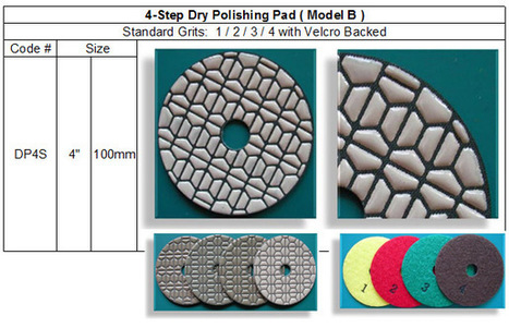 4 Step Dry Polishing Pad made by RM Tech Korea (StoneTools Korea®) provides the highest quality; world top selling more than 500 sets monthly | Concrete Polishing Tools Accessaries | Scoop.it
