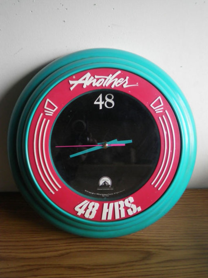 """VINTAGE """"ANOTHER 48 HOURS"""" PARAMOUNT PICTURES WALL CLOCK - Wall 