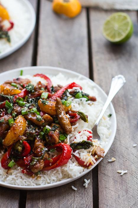 #HealthyRecipe / 30 Minute Sweet Asian Chili Pork, Ginger and Tangerine Stir Fry | lovemefood | Scoop.it