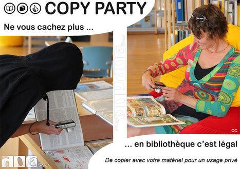 Ne vous cachez plus ... Copier en bibliothèque c'est légal ! (Copy party le 12 octobre dans les bibliothèques de Brest) | Doc@Brest - actualités du réseau | Scoop.it