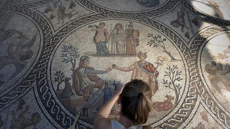 Un mosaico romano en Cátulo muestra todo su esplendor tras 20 siglos bajo tierra | Expresiones Arquitectónicas Cristianas | Scoop.it