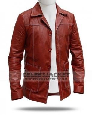 Brad Pitt Fight Club Red Coat   Celebsjacket.com   Scoop.it
