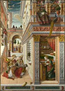 Carlo Crivelli | The Annunciation, with Saint Emidius | NG739 | The National Gallery, London | Oh, you pretty things! | Scoop.it