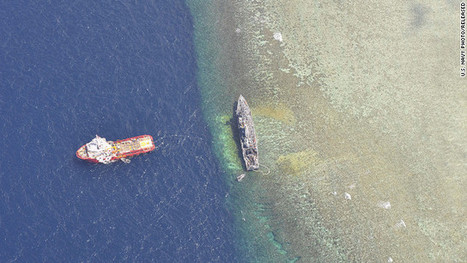 Report: Extracting stranded U.S. minesweeper may take 2 months | Indigo Scuba | Scoop.it