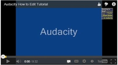 5 Great Video Tutorials on How to Create Podcasts Using Audacity | Education Matters - (tech and non-tech) | Scoop.it