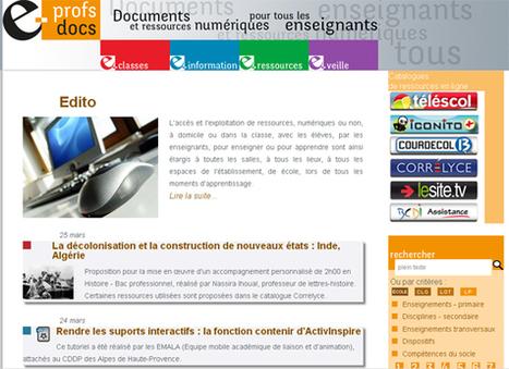 e-profsdocs, un site sur les usages de l'information numérique à destination de tous les enseignants.     LegymnaseLB202.0   Scoop.it