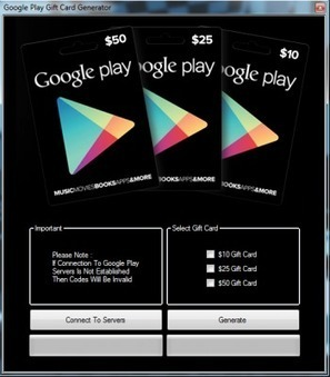 Google Play Gift Card Generator - Free Google Play Gift Cards get now with this generator tool | Top Android and iOS games News | Scoop.it