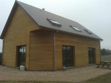 Photos de maison bois construite en ossature bois   La maison bois   Scoop.it