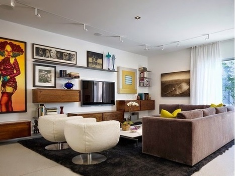 Living Room Design with Modern Televisions | Design & Art & Futuristic | Scoop.it
