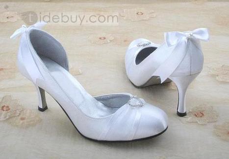 Satin Upper Stiletto Heel Pumps With Bowknot Wedding Shoes | sweet heart | Scoop.it