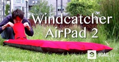 This Is An Air Mattress That Inflate In Seconds Without Pumping Or Power | 9GAG.tv | Creative Innovation | Scoop.it