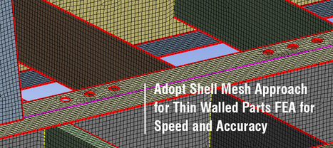 Adopt Shell Mesh Approach for Thin Walled Parts FEA for Speed and Accuracy | CAE Analysis | Scoop.it