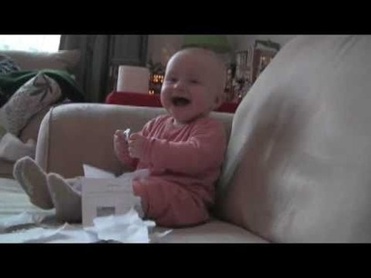 """Baby Laughing Hysterically at Ripping Paper (Origi 