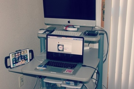 The ultimate mobile, standing desk set up (and taking it all on the road)   Cloud Talk not just for Techies   Scoop.it