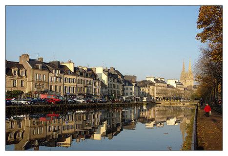 Bretagne - Finistère - Quimper :  grande marée, rives droite et gauche   photo en Bretagne - Finistère   Scoop.it
