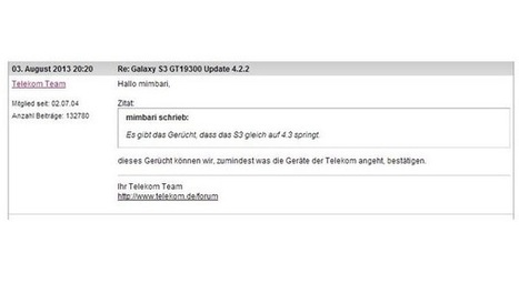 Samsung GALAXY S3: Direct Android 4.3 Update by Telekom confirmed | iTunes App for kids | Scoop.it