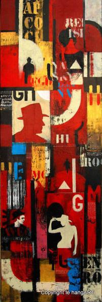 Tableau Delgado 147 | Tableaux des artistes du hangART | Scoop.it