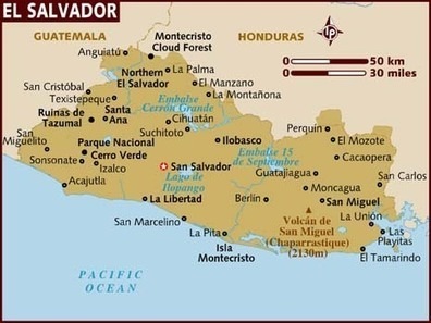 Map of El Salvador | El Salvador, Kailin Sweet | Scoop.it