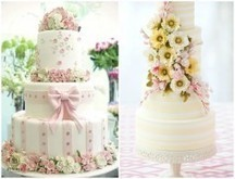 12 Pretty Pastel Colored Wedding Cakes - One Charming Day | Wedding Inspirations | Scoop.it