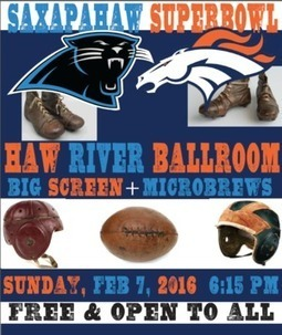 Saxapahaw Superbowl - Haw River Ballroom - February 7th | Saxapahaw | Scoop.it