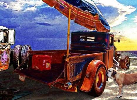 Beach Rod Aftermath Meets the Golden Dawn | VivaChas!  Hot Rod Art | Scoop.it