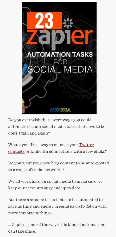 23 Zapier Automation Tasks for Social Media - RazorSocial | The Marketing Technology Alert | Scoop.it