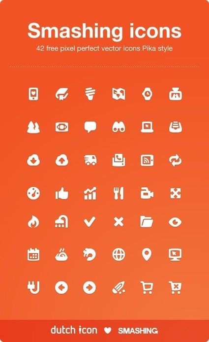 Freebie: Chunky Pika Icon Set (42 Icons, PNG, AI) | responsive design II | Scoop.it